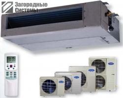 Установка системы вентиляции на базе канального кондиционера в коттедже